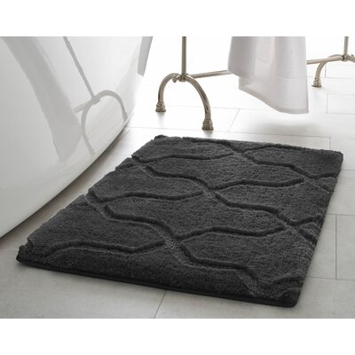 Pearl Drona 2 Piece Bath Mat Set Color: Gray Street
