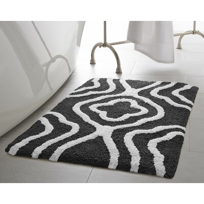 Giri 2 Piece Plush Bath Mat Set Color: Gunmetal