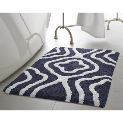 Giri 2 Piece Plush Bath Mat Set Color: Denim Blue