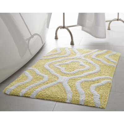 Giri 2 Piece Plush Bath Mat Set Color: Banana