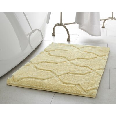 Pearl Drona 2 Piece Bath Mat Set Color: Banana