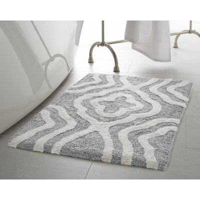 Giri 2 Piece Plush Bath Mat Set Color: Gray Street
