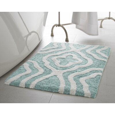 Giri 2 Piece Plush Bath Mat Set Color: Aquatic Blue