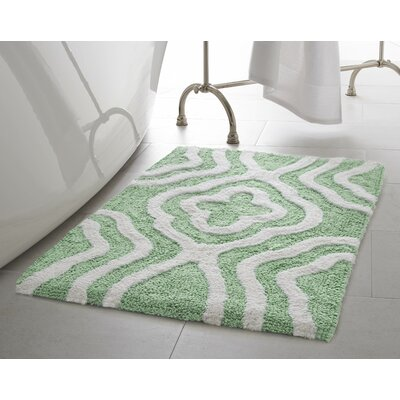 Giri 2 Piece Plush Bath Mat Set Color: Mint