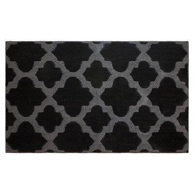 Alessandra Black/Gray Area Rug Rug Size: 2 x 5