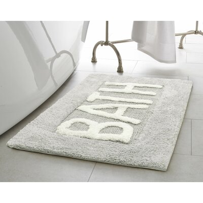 Cotton Bath Rug Color: Light Grey