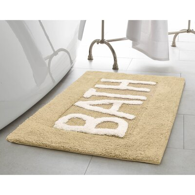Cotton Bath Rug Color: Linen