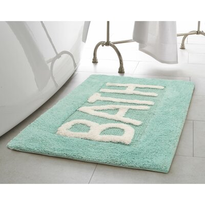 Cotton Bath Rug Color: Aqua Blue