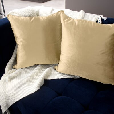 Lucas Throw Pillow Color: Champagne