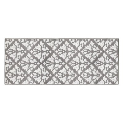 Mira Gray/White Area Rug Rug Size: Runner 2' x 5'