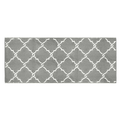 Yohan Gray/White Area Rug Rug Size: Runner 2 x 5