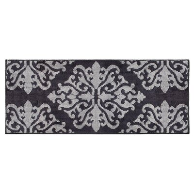 Cole Gray/Black Area Rug Rug Size: Runner 2 x 5