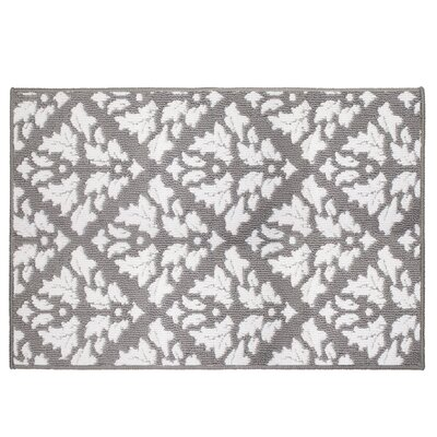 Mira Gray/White Area Rug Rug Size: 24 x 4