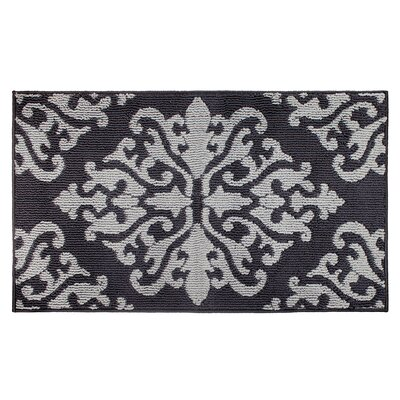 Cole Gray/Black Area Rug Rug Size: Rectangle 24 x 4