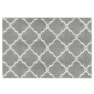 Yohan Gray/White Area Rug Rug Size: Rectangle 24 x 4