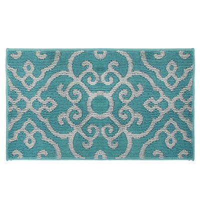 Nevio Green/Gray Area Rug Rug Size: 1'8