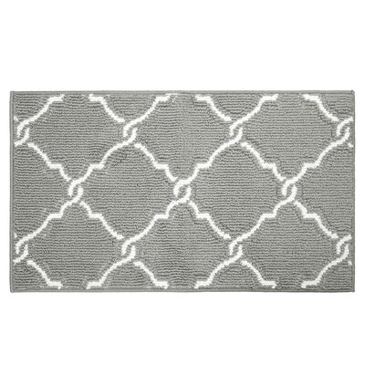 Yohan Gray/White Area Rug Rug Size: 18 x 210