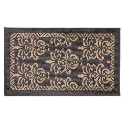 Bayonne Machine Woven Dark Gray/Linen Area Rug Rug Size: 18 x 210