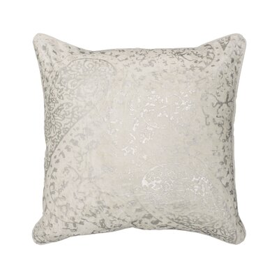 Ashlyn Metallic Throw Pillow Color: White