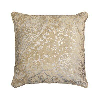 Ashlyn Metallic Throw Pillow Color: Champagne