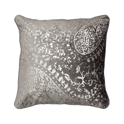 Ashlyn Metallic Throw Pillow Color: Light Gray