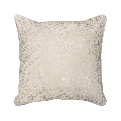 Ashlyn Metallic Throw Pillow Color: Ivory