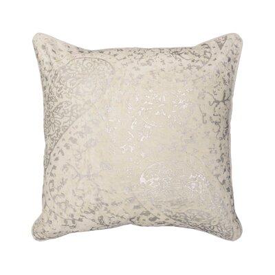 Ashlyn Metallic Throw Pillow Color: Ivory
