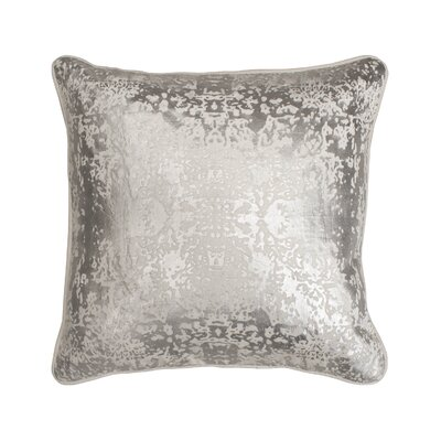 Overture Metallic Throw Pillow Color: White