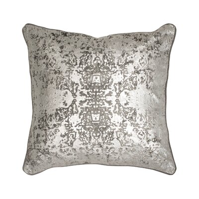 Overture Metallic Throw Pillow Color: Light Gray