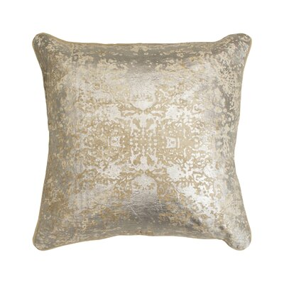 Overture Metallic Throw Pillow Color: Champagne