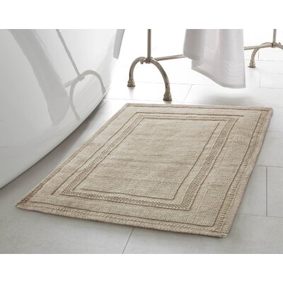 Chelmscote Cotton Stonewash Racetrack Bath Rug Color: Taupe Gray, Size: 17 W x 24 L
