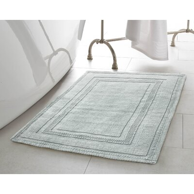 Berrian Cotton Stonewash Racetrack 2 Piece Bath Rug Set Color: Aqua