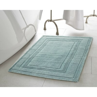 Berrian Cotton Stonewash Racetrack 2 Piece Bath Rug Set Color: Marine Blue