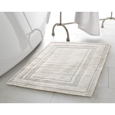 Berrian Cotton Stonewash Racetrack 2 Piece Bath Rug Set Color: Light Gray