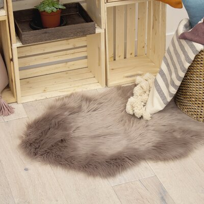 Rhoda Taupe Gray Area Rug Rug Size: 2 x 3