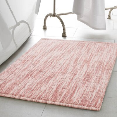 Deming Cotton Slub Bath Rug Color: Blush, Size: 17 W x 24 L