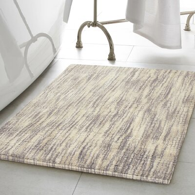 Deming Cotton Slub Bath Rug Color: Taupe, Size: 17 W x 24 L