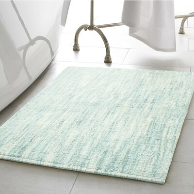 Boell 2 Piece Cotton Slub Bath Rug Set Color: Aqua