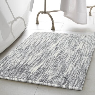 Deming 2 Piece Cotton Slub Bath Rug Set Color: Light Gray