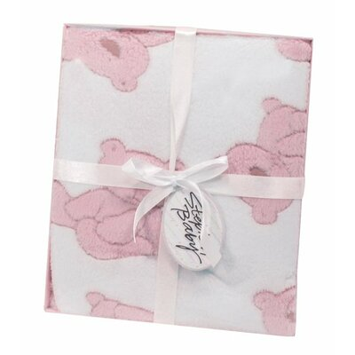 Plush Bear Boxed Toddler Blanket Color: Pink 64330
