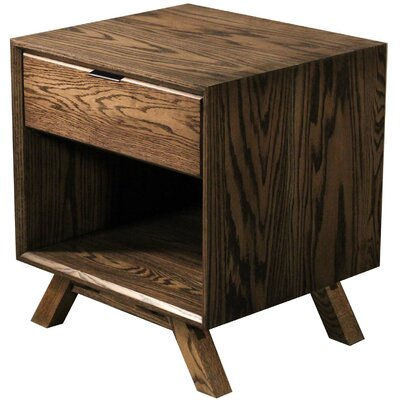 MidCentury 1 Drawer Nightstand Finish: Red Oak