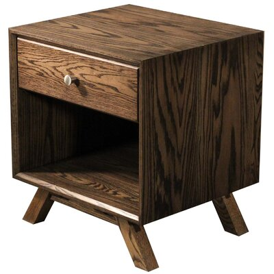 MidCentury 1 Drawer Nightstand Color: Red Oak