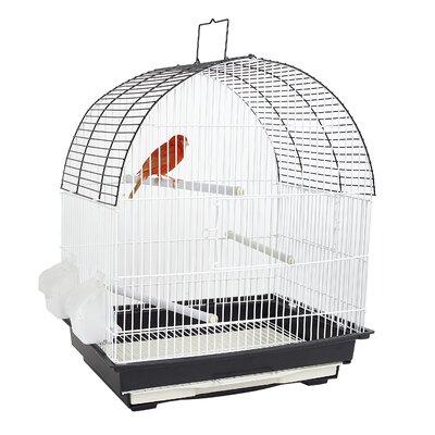 Vogelkäfig Phoenix mit Zubehör | Garten > Tiermöbel > Vogelkäfige-Volieren | Weißschwarz | Kunststoff | FUN