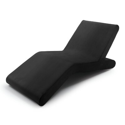 Woc Chaise Lounge Upholstery: Black