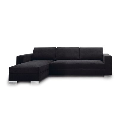 Space Sectional Upholstery: Black