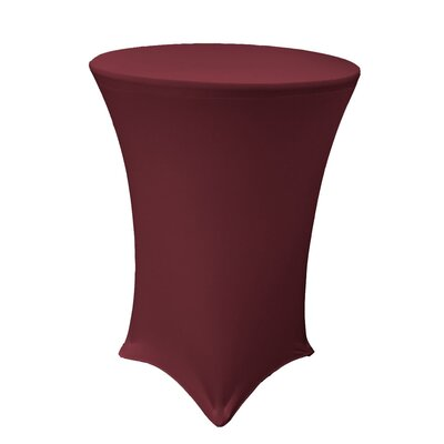 Spandex Round Cover for High Cocktail Table Color: Burgundy, Size: 32