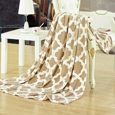 Megan Throw Color: Taupe