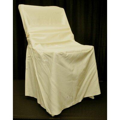 Renaissance Box Cushion Armchair Slipcover Upholstery: Ivory