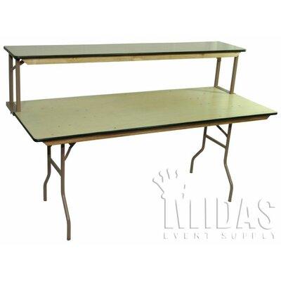 Elite Pub Table Tabletop Size: 15.5 H x 96 W x 15 D