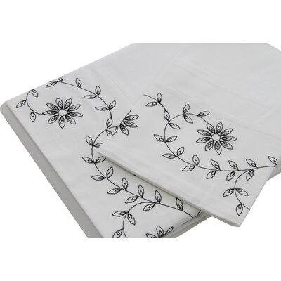 Cleo 230 Thread Count Cotton Sheet Set Size: Queen